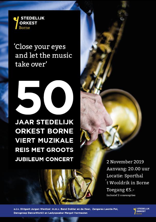 50-jarig jublieum stedelijk orkest borne